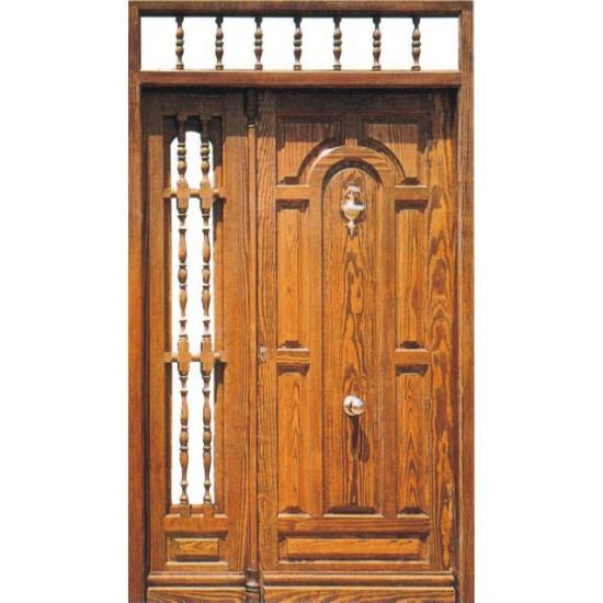 puertas de entrada de madera con fijo