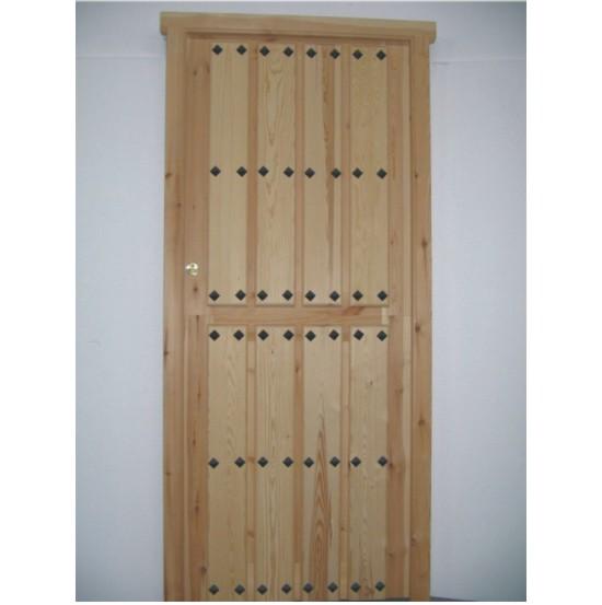 Puertas de entrada de madera partidas for Puertas de entrada de madera precios