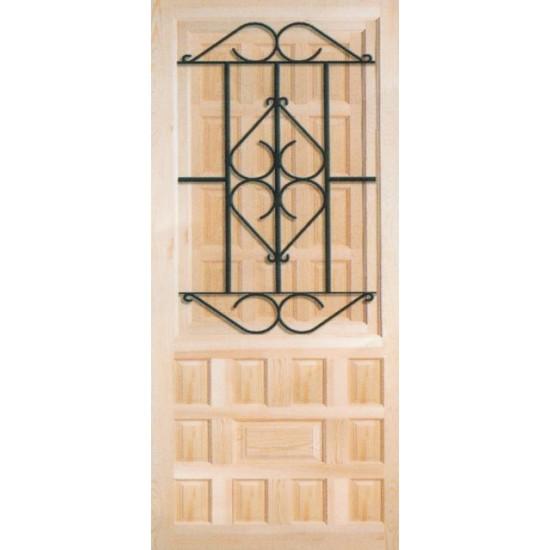 Puertas de madera con rejas de forja - Puertas forja exterior ...