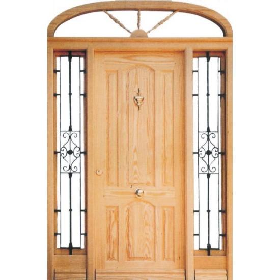 Puertas de entrada con rejas - Puerta rustica exterior ...