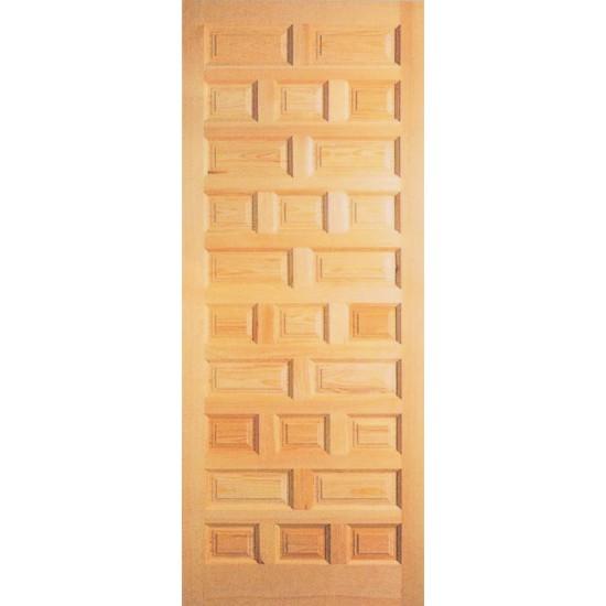 Puertas de madera de pino talladas for Maderas para puertas de interior