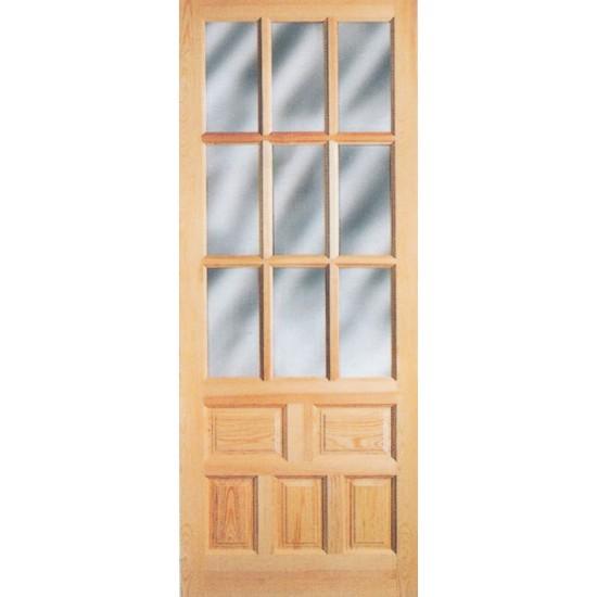 Pin puerta rustica barnizada color roble genuardis portal for Puertas rusticas de madera