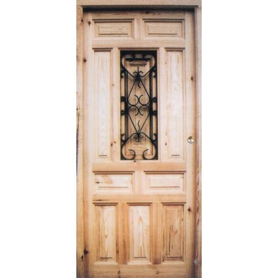 Rejas cercas vallas hierro forjado con revestimiento for Puertas rusticas de madera