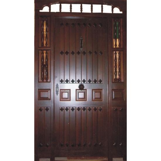 Puertas r sticas de entrada for Modelos de puertas de madera para exteriores