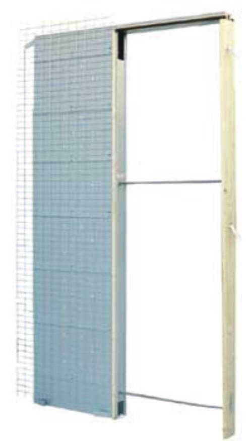 Estructuras para puertas correderas de hoja doble - Puerta corredera doble ...