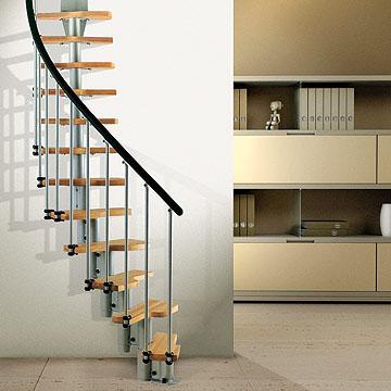 Escalera en kit para espacios reducidos for Escaleras modernas para espacios pequenos