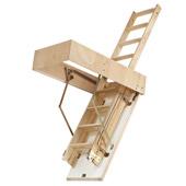 Escalerilla plegable de madera con dos tramos maydisa - Escaleras plegables techo ...