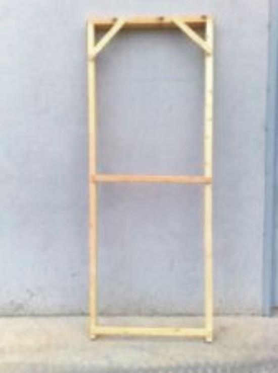 Premarco de madera de pino blanco varias dimensiones for Precio de puertas vaiven de madera