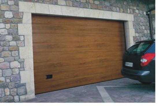Port n seccional residencial ecuador imitaci n madera - Porton de garaje ...