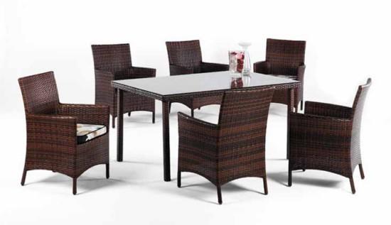 Conjunto de mesa y sillas con reposabrazos para jard n o Conjunto de mesa y sillas de jardin