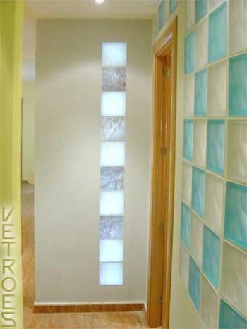 Cristal paves color agua marina dise o ondulado lineal - Ladrillo de cristal ...