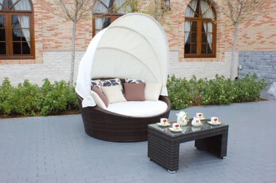 Sof s de exterior de huitex con capota for Sofa cama para exterior