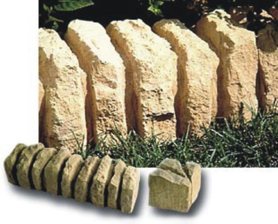 bordillos de hormign imitacin piedra muy real de color albero para limitar y decorar jardines