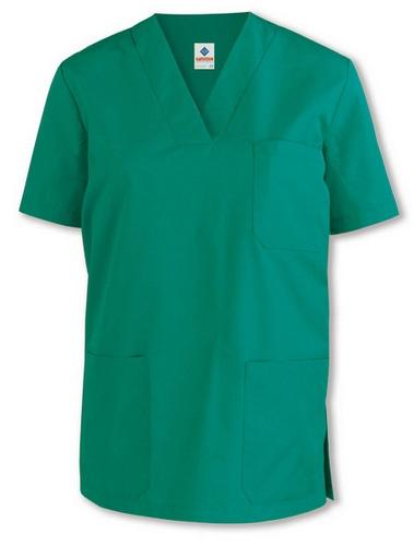 39ef7d69e6a Camisolas para pijama sanitario con cuello de pico y manga corta,  disponibles en color negro
