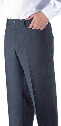 c2c2f3a4c Pantalones para caballero con bolsillos americanos para personal de  hostelería.