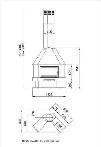 Medidas de una chimenea chimenea para que funcione el with medidas de una chimenea chimeneas - Medidas chimenea ...