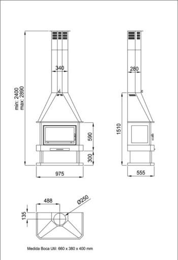 Ladrillos prefabricados fontaner a y carpinter a para for Construccion de chimeneas de lena