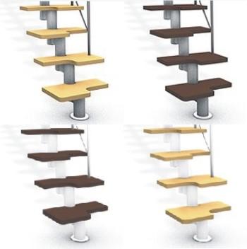 Escaleras para zonas reducidas en madera y metal - Peldanos de escaleras ...