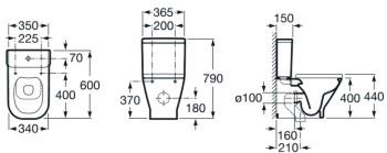 Inodoros compactos de roca for Medidas de inodoros roca