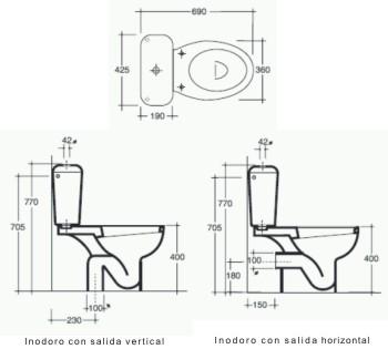 Inodoros para ba os publicos instalaci n sanitaria for Inodoro discapacitados