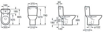Ladrillos prefabricados fontaner a y carpinter a para for Medidas inodoro salida horizontal