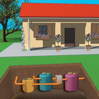 Dispositivo de almacenamiento y tratamiento de aguas for Depuradora aguas residuales domestica