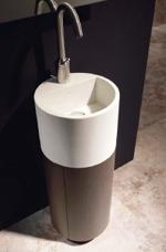 Ladrillos prefabricados fontaner a y carpinter a para for Mueble lavabo redondo