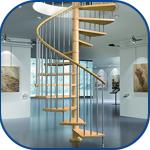 Escaleras de madera para interior.
