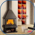 Estufas, chimeneas y calderas de pellets y leña para interior